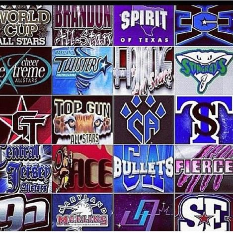 All star cheerleading logos